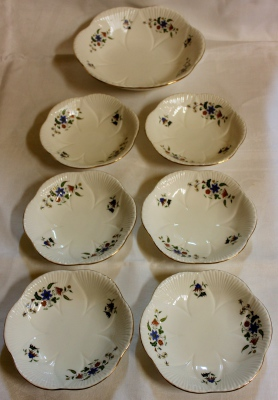 Shelley 7pce Dessert Set circa1940