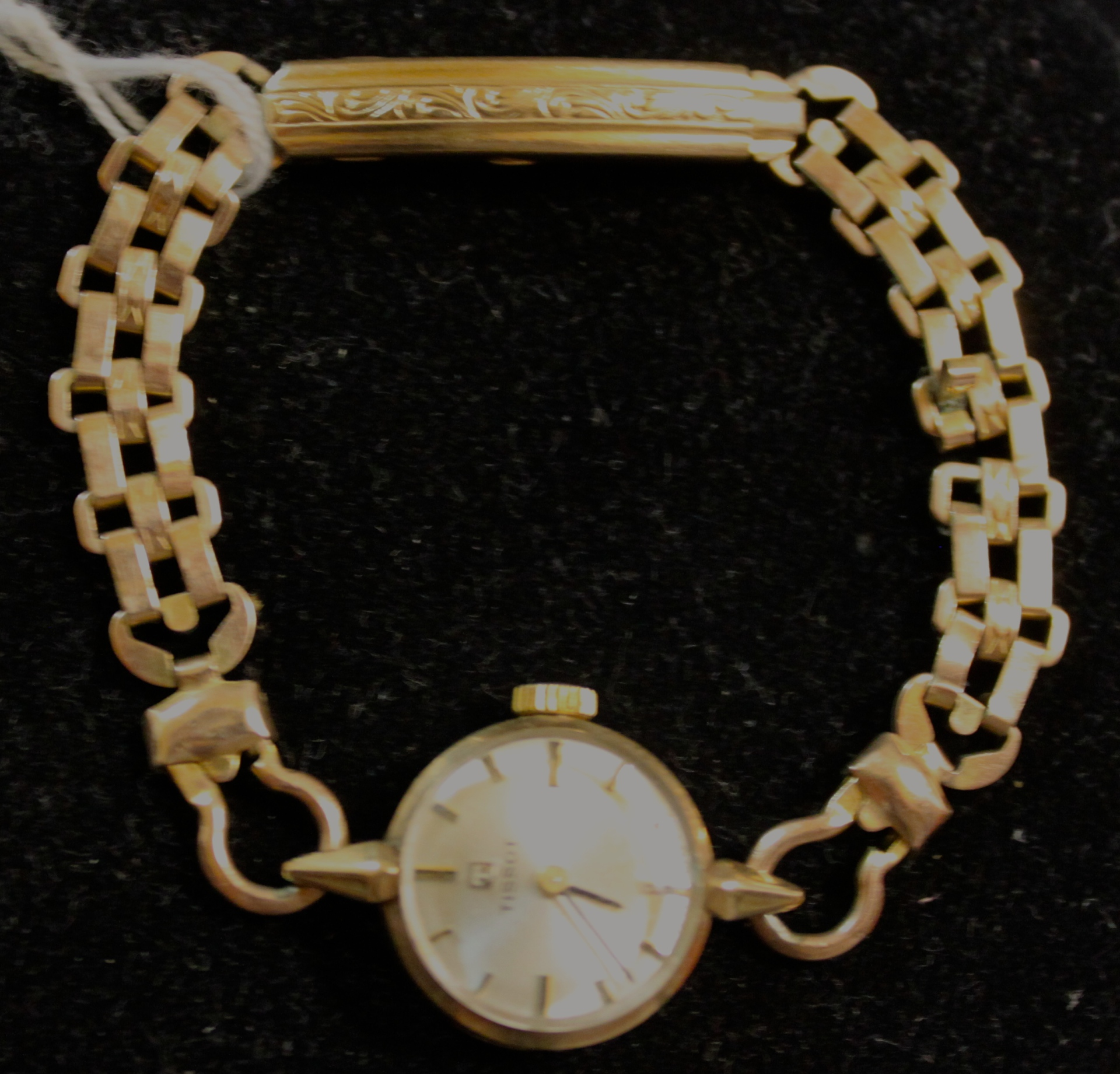 Tissot 9ct Ladies Gold Watch circa 1950