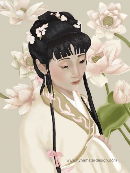 Illustration of Twelve Beauties of Jin Ling.