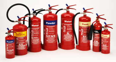 Fire Extinguisher, co2, water, powder