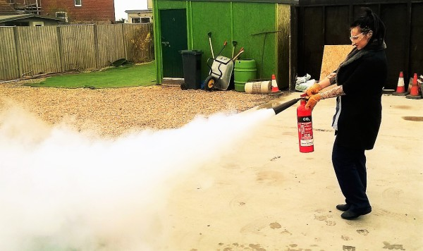 fire extinguisher training co2