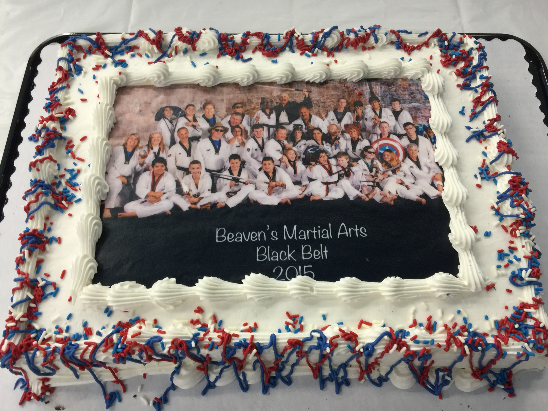 Black Belt Funny Picture Cake
