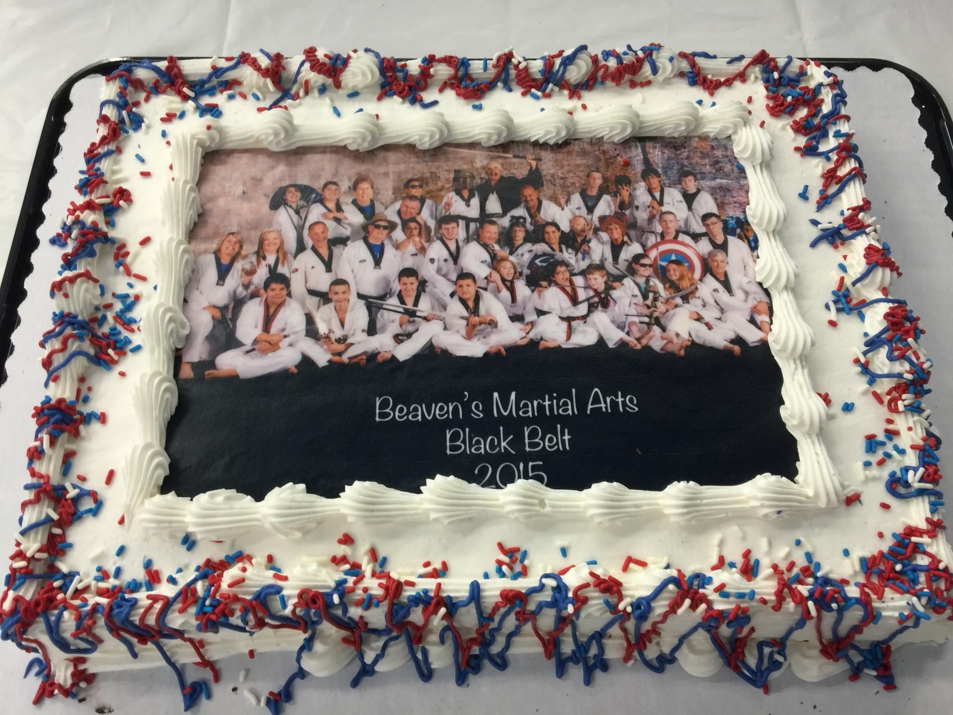 Black Belt Funny Picture Cake