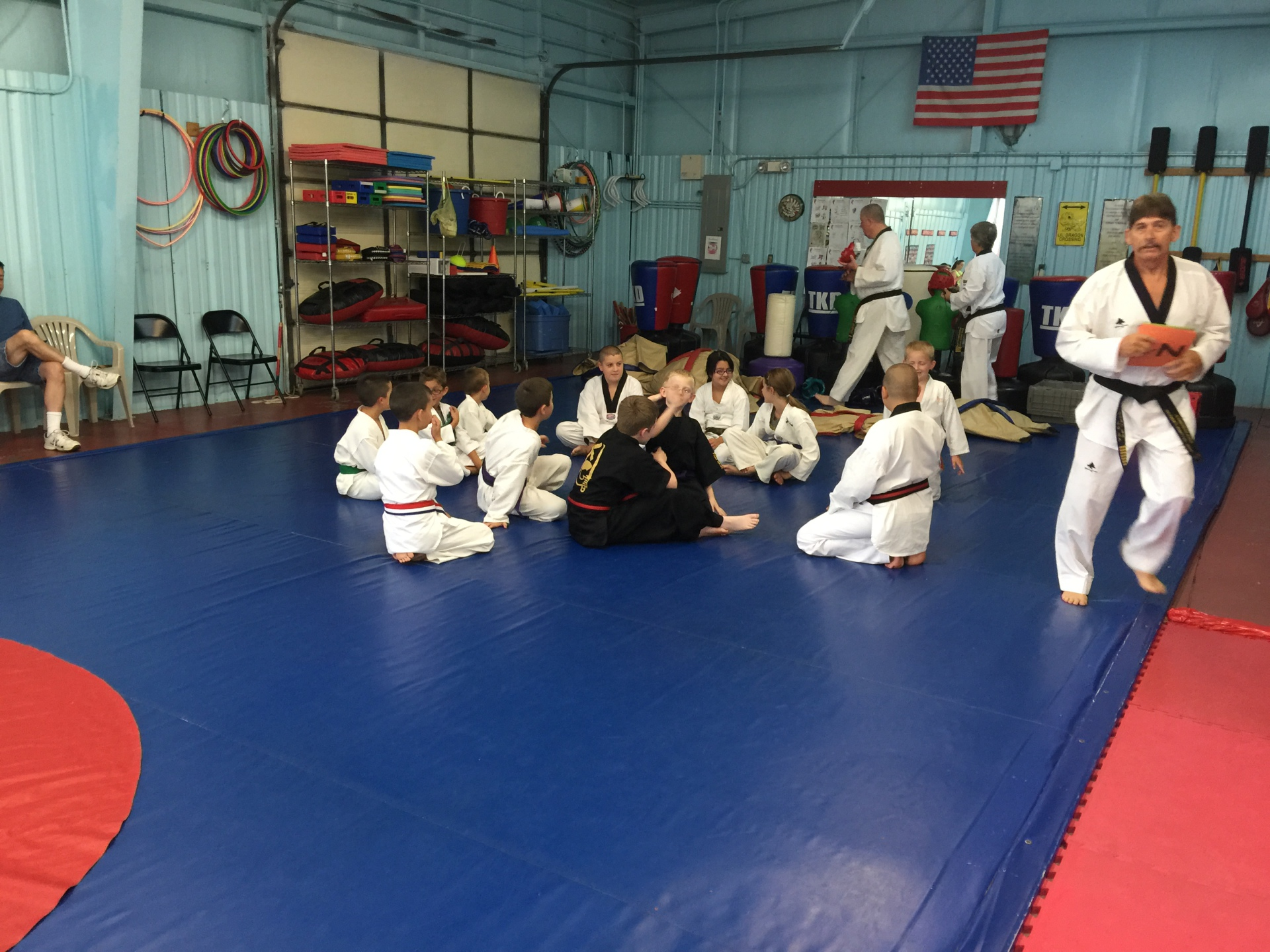 Grand Master Beaven getting everyone in place