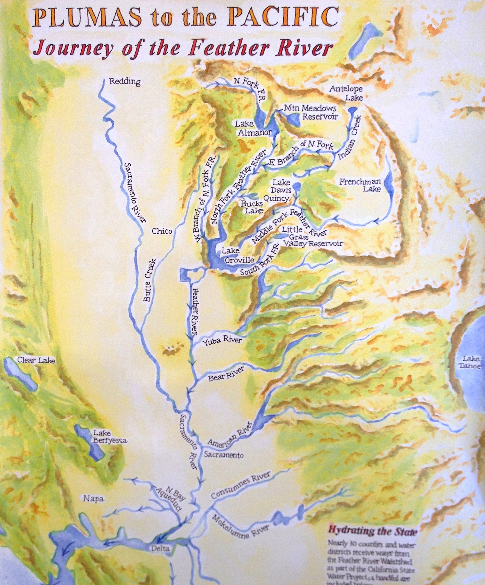 feather river watershed to the pacific
