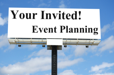 Business event, event planning, promotional material
