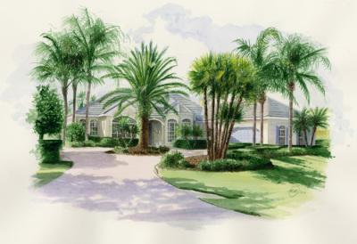 Landscaped garden, Florida