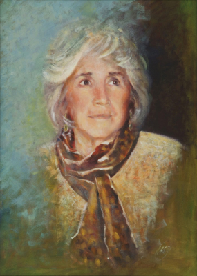 Portrait, oils, canvas, people,