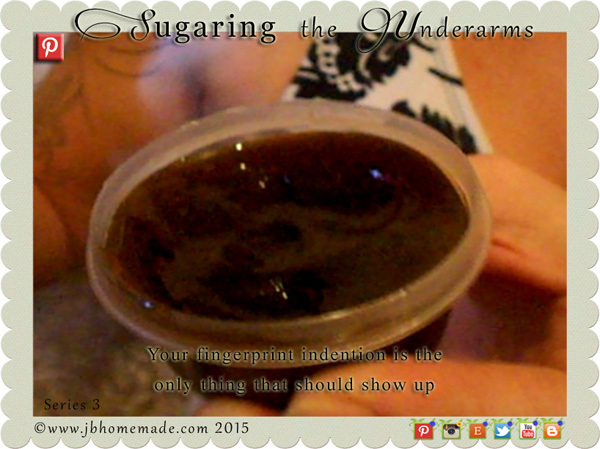 Sugaring the underarms with Sugaring Paste