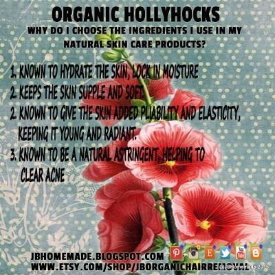 JBHomemade Hollyhocks in Skincare