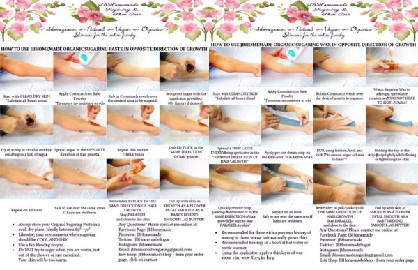 Sugaring Hair Removal Instructions - get the tutorials here!