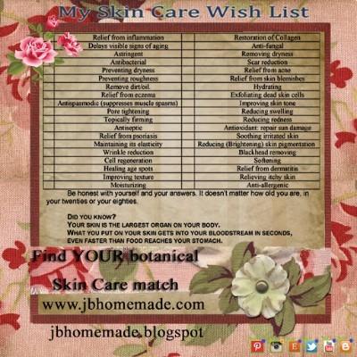 Natural Skincare Wish List