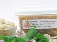 Peppermint Coconut All Natural Sugar Scrub - Detoxifying - Moisturizing
