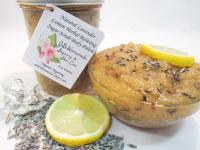 Natural Lavender Lemon Herbal Relaxing Sugar Scrub Body Polish - 8 Oz