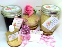 Sugaring Paste & Natural Red Rose Petal Sugar Scrub Bundle