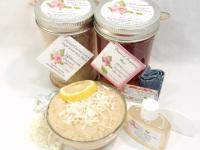 Sugaring Wax & Natural Coconut Lemon Sugar Scrub Bundle