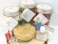 Sugaring Wax & Natural Rosemary Eucalyptus Sugar Scrub Deluxe Bundle