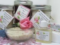 Sugaring Wax & Natural Pink Rose Sugar Scrub Deluxe Bundle
