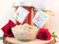 Sugaring Wax & Natural Red Rose Petal Sugar Scrub Bundle