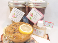 Sugaring Wax & Natural Herbal Lavender Sugar Scrub Bundle