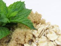 Soothing Oatmeal Mint Brown Sugar Scrub Body Polish - 2 Oz