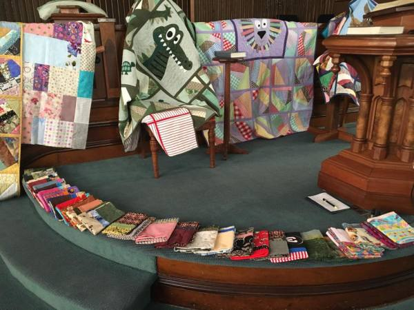 Prayers sent out over quilts