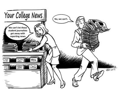 College Media Review Comic Strip