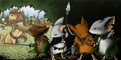 Blue Patrol Mouse Guard RPG Commission