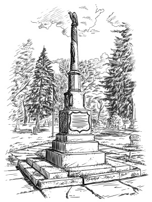 Delavan, Wisconsin  Soldiers Monument Illustration