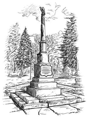Delavan, Wisconsin  Soldiers Monument Illustration