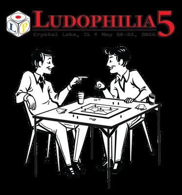 Ludophilia Board Game Convention 2015 T-Shirt Design