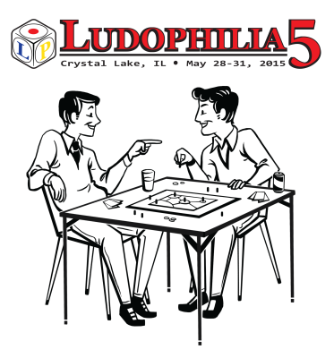Ludophilia Board Game Convention 2015 T-Shirt Design