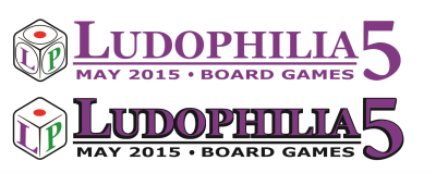 Ludophilia Board Game Convention Logos