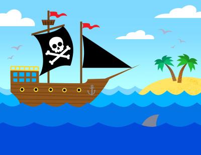 Rock 'n' Kids Pirates Stamp Design
