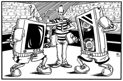 Television Vs. Film Comic Strip