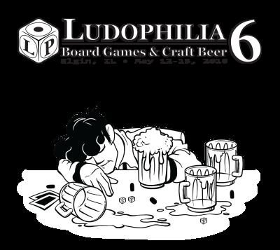 Ludophilia Board Game Convention 2016 T-Shirt Design
