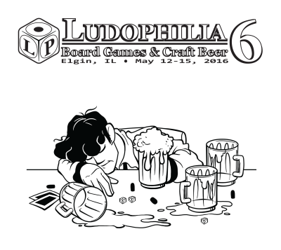 Ludophilia Board Game Convention 2016 T-Shirt Design