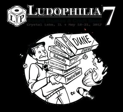 Ludophilia Board Game Convention 2017 T-Shirt Design