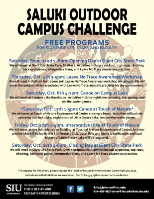 Saluki Outdoor Campus Challenge Flyer