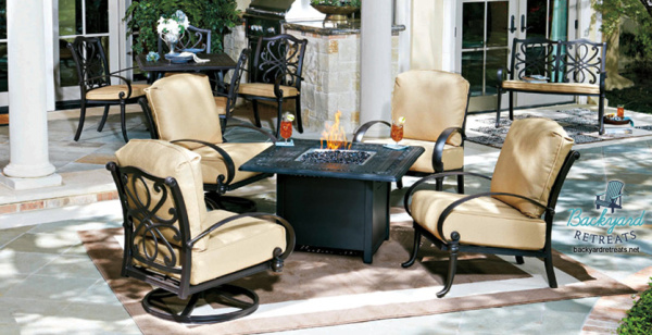 Woodard Fire Pit Chat Table