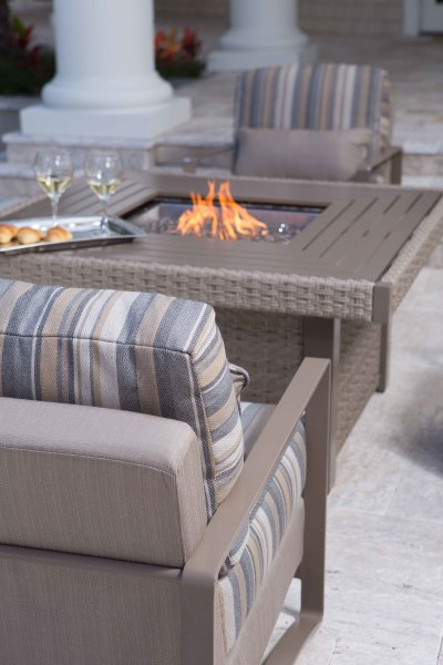 Dover Chat Chairs and Firepit