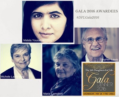 Malala Yousafzai Honoured by Toronto Charity Daughters for Life