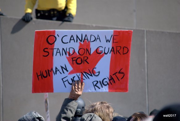 Saturday Protests, Nathan Phillips Sq. March 04 2017