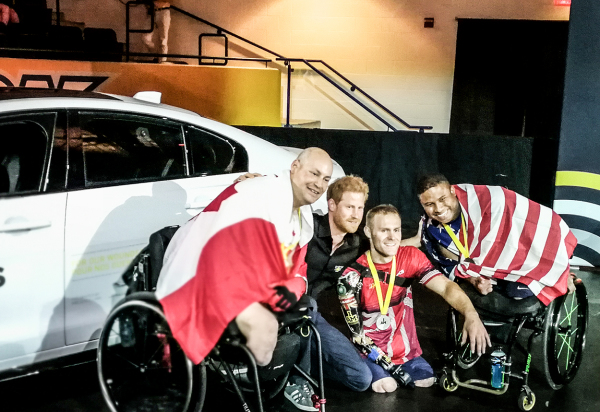 Medalists and Prince Harry