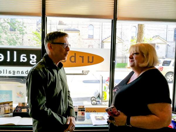Curator Allen Shugar with Glenda Fordham