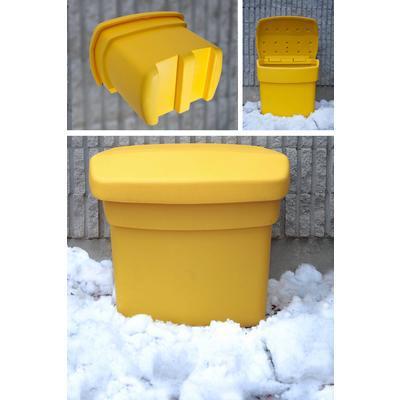 Yellow Salt Bins