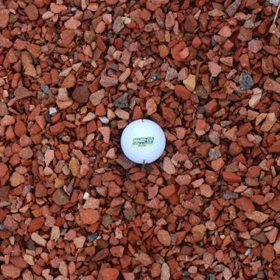Red Crushed Brick Decorative Stone