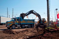 Hard-Co Excavator and Triaxle