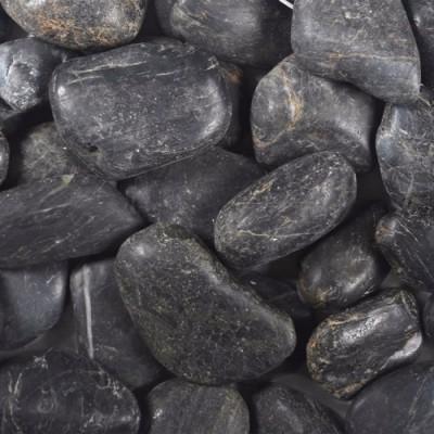 Ornate Black Polished Pebbles