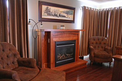 Sherman Suite - Fireplace